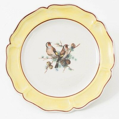 "Set of 12 Mottahedeh China Plates 6.25"" Aviary Birds w/ Yellow Trim 5686 Italy"
