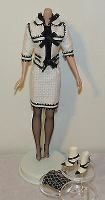 Toujours Couture Silkstone Barbie Fashion Outfit Black & White Suit No Doll (#2)