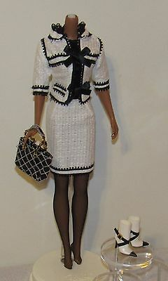 Toujours Couture Silkstone Barbie Fashion Outfit Black & White Suit No Doll (#3)