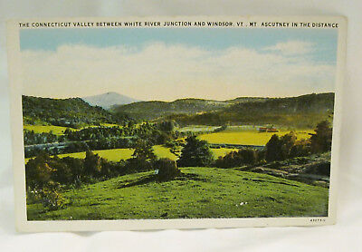 Connecticut Valley Between White River Junction and Windsor Postcard