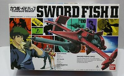 Bandai Cowboy Bebop SWORD FISH 2 Model Kit 1/72 Scale from Japan - Open/Complete