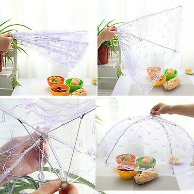 Fold Food Umbrella Cover Picnic Kitchen Party Pop Up Mesh Fly Wasp Insect Net TO