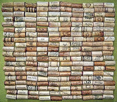 200 Natural Used Wine Corks — Free US Shipping — No Synthetic, No Champagne