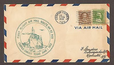 1932 Airmail Letter First Fight Air Mail Route Texas
