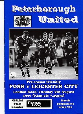 Peterbrough V Leicester 1997 Friendly