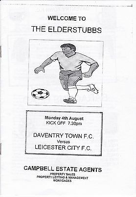 Daventry Town V Leicester 1997 Friendly