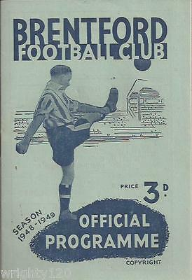 Brentford V Torquay United 29 January 1949