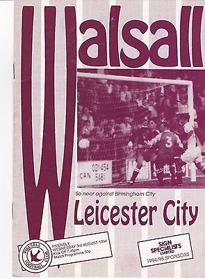 Walsall V Leicester 1994 Friendly
