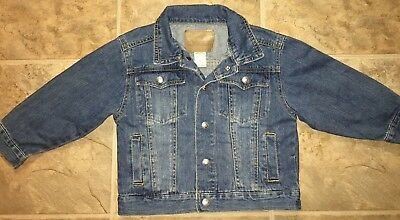 Levis Kids Size 5 Jacket  Strauss & Co Washed Blue Denim Youth Button Up
