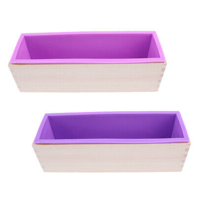 Silicone Soap Loaf Mold Wood Box DIY Making Tools & Tray Holder Choose Color