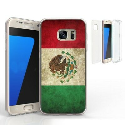 For Galaxy S7 Edge Full Body Front Back Screen Protector Case Mexico Flag