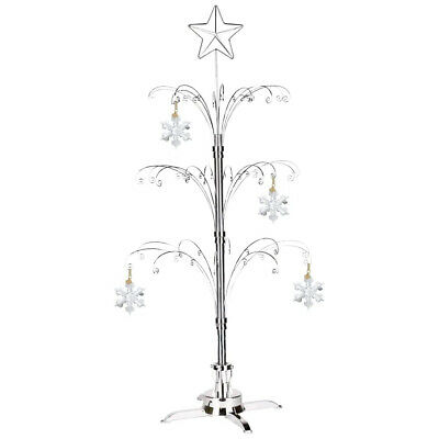 For 2017 SWAROVSKI Large Annual Chrismas Ornament Crystal Snowflake Stand lot