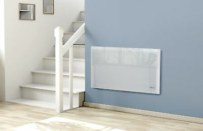 2000W Electric Slimline Glass Panel Heater Radiator Wall Mounted - White
