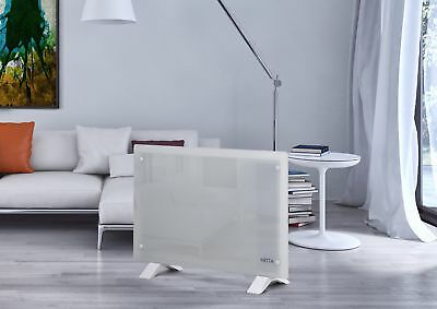 1500W Electric Glass Panel Convector Heater Radiator Wall Mounted - White