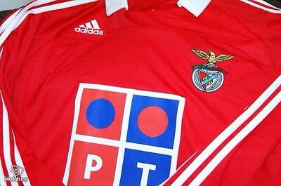 Benfica (portugal) home Football Shirt long sleeves 2007 large