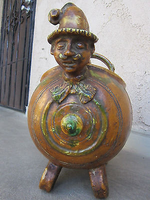 Antique Figural Crock  or a covered bowl / tureen???  Folk Art Pottery