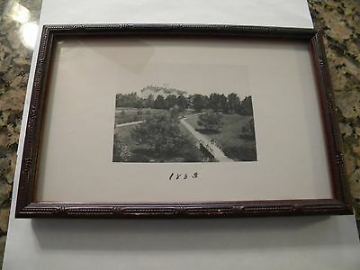 Framed 1883 Penn State Picture Of Old Main, 9 3/4 Inches X 6 1/2 Inches