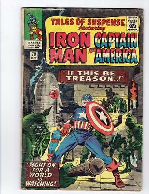 Tales of Suspense #70 (Marvel Oct 1965) Iron Man Captain America SILVER AGE  FR