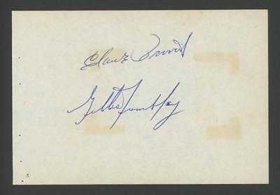 CLAUDE PROVOST and GILLES TREMBLAY signed 4x6 album page (CANADIENS - AUTOGRAPH)