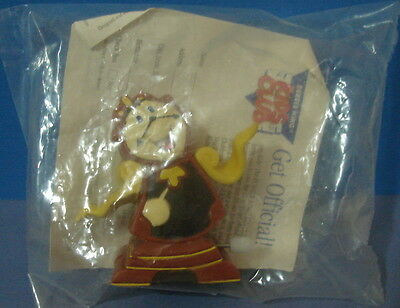 1991 Burger King Disney Beauty and the Beast Cogsworth Wind Up Toy in Package