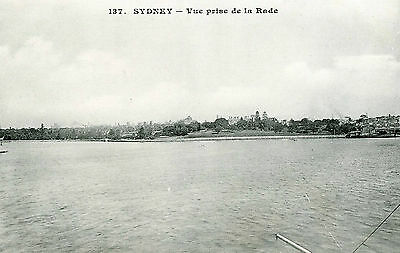 vintage postcard Sydney view taken from the harbour NSW Australia early 1900s