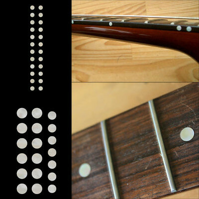 Fret Markers Inlay Sticker Decal Guitar & Bass - Custom Dot SET White Pearl