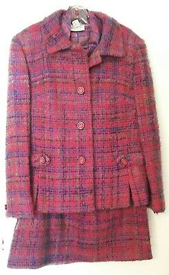 Vintage Lord & Taylor Fifth Ave Boucle Suit matching Tailorbrooke Shirt
