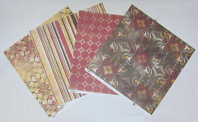 "8 Kaisercraft Double Sided Grandiose Scrapbooking Paper 12""x12"" Card Making"