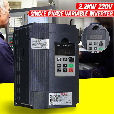 2.2KW 220V 3PH Single Phase Output Variable Frequency Inverter VSD VFD AUS Drive