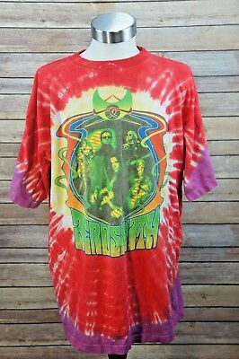 VTG 2002 Aerosmith Girls of Summer Tie Dye Tour Shirt Concert Locations XXL