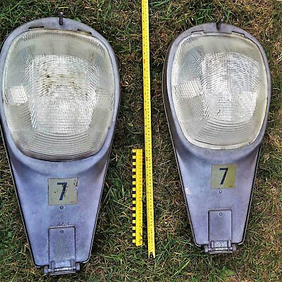 Vintage Pair of STREET LIGHT LAMPS INDUSTRIAL for Repurpose or Upcycle Project?
