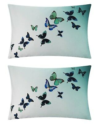 TED BAKER Set Of Two Multicoloured Pillowcases BUTTERFLY COLLECTIVE 48 x 74 cm