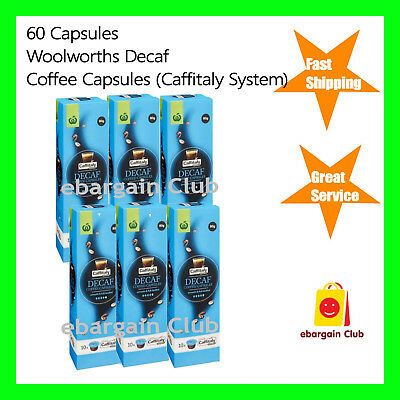 60 Capsules Woolworths Decaf Coffee Capsule Pod Caffitaly System Map Decaf eBC