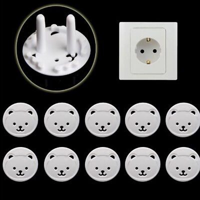 10PCS Safety Covers Cap Anti Electric EU Wall Plug Socket Baby Child Protection