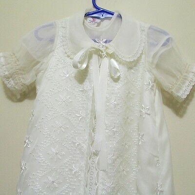 Vintage 60s 70s infant newborn spiritual Christening gown with jacket coat dress