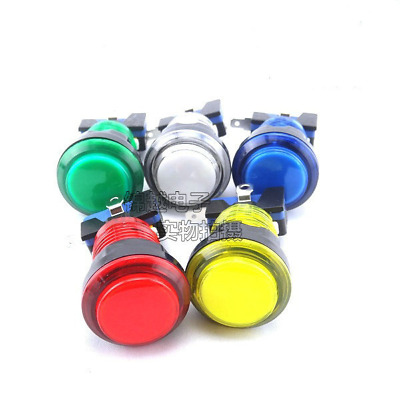 "33mm 1.3"" Round LED Illuminated Push Button Microswitch Arcade Mame Video Game"