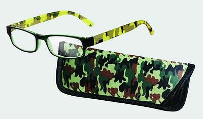 Spoontiques Reading Glasses w/  Matching Case Camo