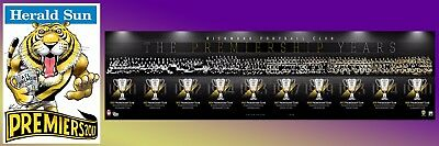 2017 Richmond Weg & Football Club The Premiership Years History Montage Print