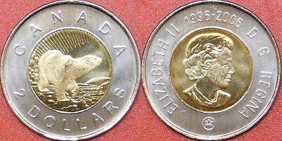 Brilliant Uncirculated 2006 Canada Churchill 2 Dollars From Mint's Set