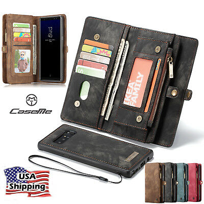 For Samsung Galaxy Note 8 Leather Removable Card Wallet Magnetic Flip Cover Case