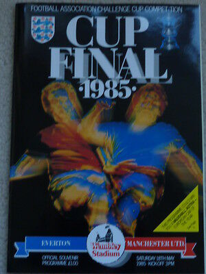 EVERTON v MANCHESTER UNITED 1985 FA CUP FINAL - FOOTBALL  PROGRAMME
