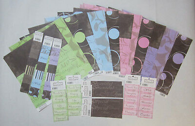 "Bulk Scrapbooking Australia 34 Chocolate Box 12""x12"" Paper,Tags & Journal Blocks"