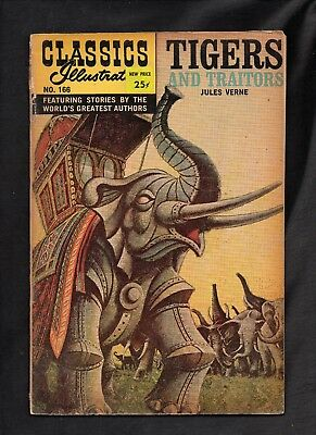Classics Illustrated #166 Fair  Hrn167 (Tigers And Traitors) Jules Verne