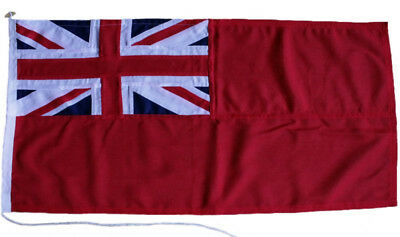 "Red ensign MoD approved sewn rope & toggled uk 3/4yd 27""x14"" merchant flag small"