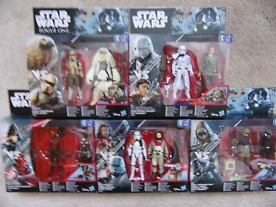 "STAR WARS 3 3/4"" Double Pack Action Figures Hasbro Disney"