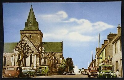 Old Postcard - High Street, Dornoch, Sutherland, Scotland - 1969