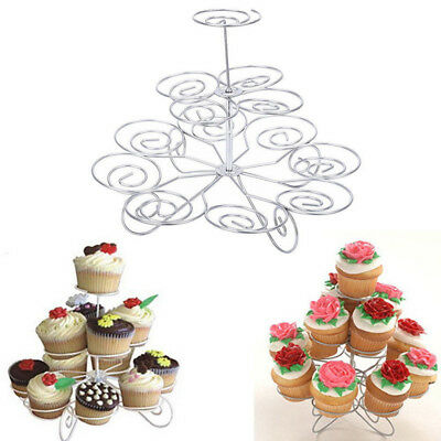 3 Tier 13 Cupcake Cake Dessert Metal Stand Holder Birthday Party Display New