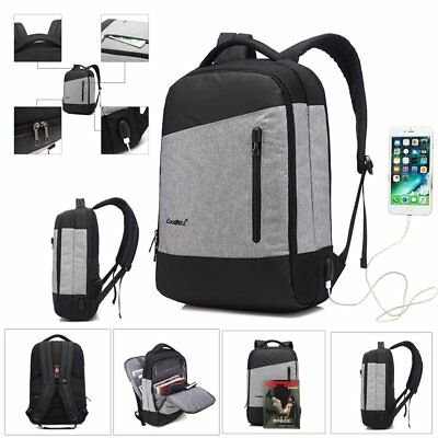 Multi-function Anti Theft Waterproof Laptop Backpack USB Charge Port Travel Bag