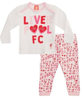 My First Liverpool Football Club Official Babies Pyjamas Pink Baby  724