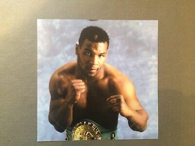 Boxing - USA - Mike Tyson - large unused peel off - circular sticker